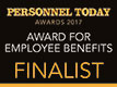 Personnel Today Awards 2017 - Award for Employee Benefits, finalist